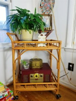 What's On My Rattan Bar Cart