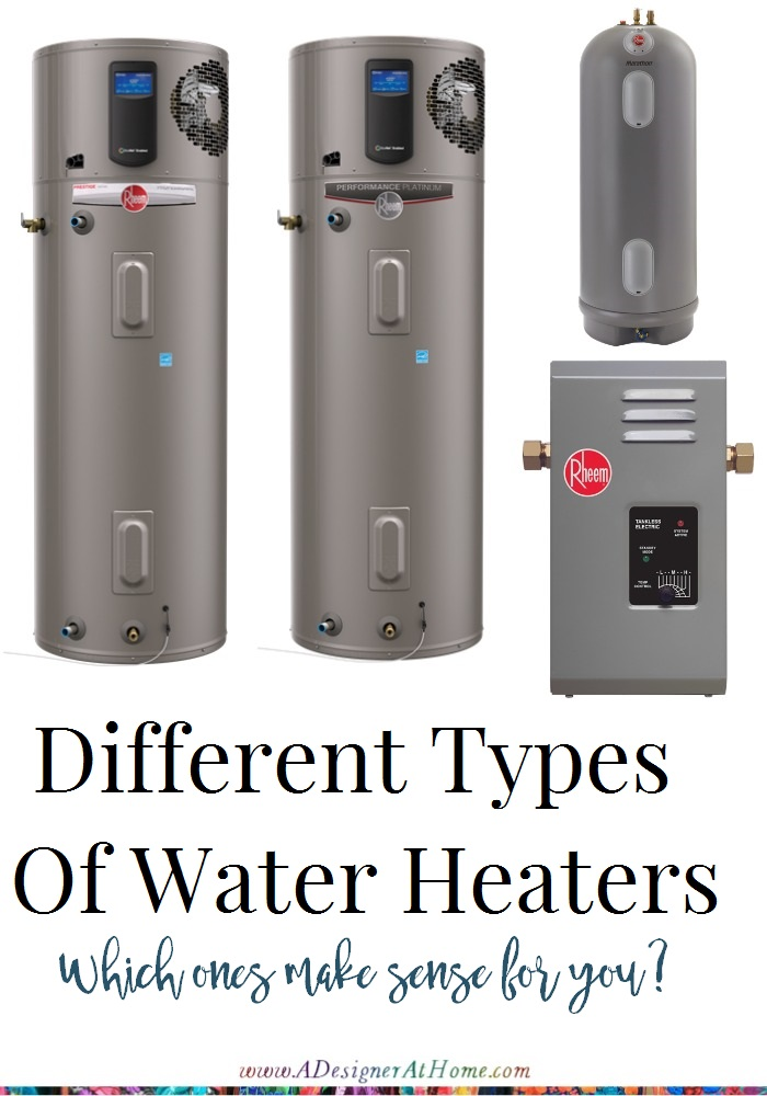 Different types of water heaters a designer at home - Types of heaters for your home ...