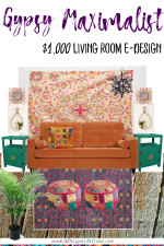 Gypsy Maximalist $1000 Living Room E-Design