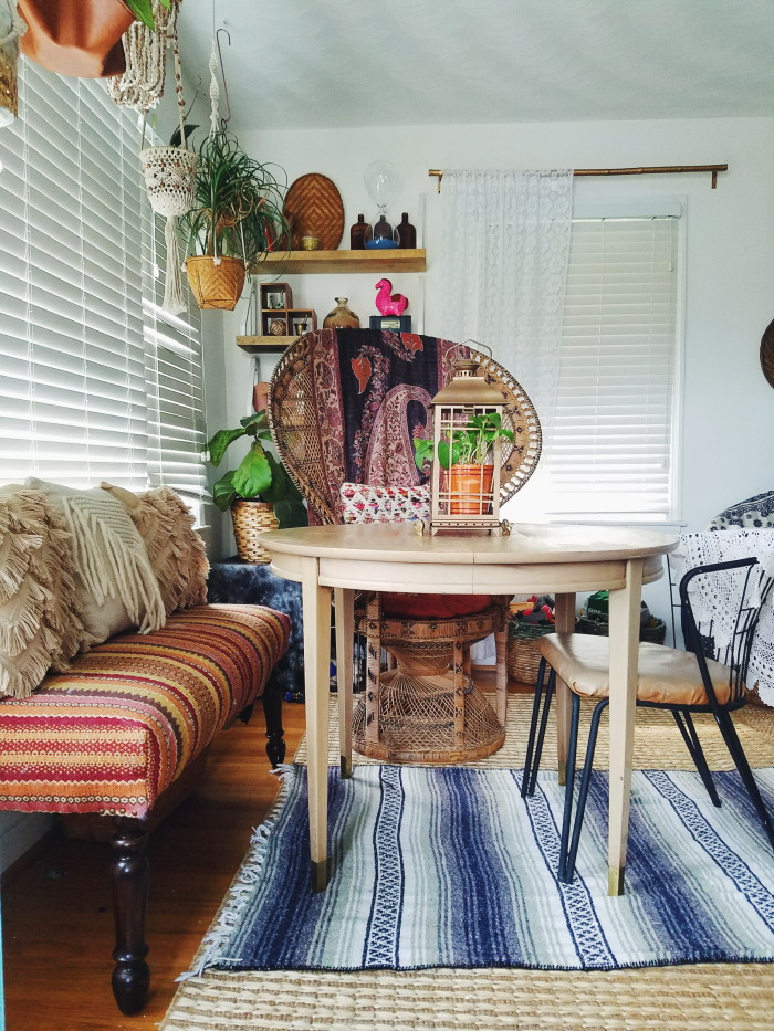 Impromptu Eclectic Bohemian Dining Space - A Designer At Home