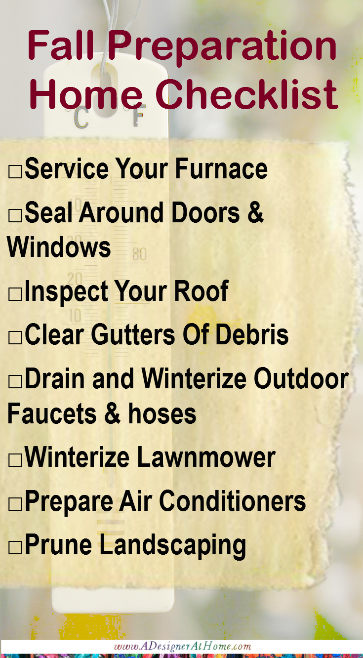 Fall Preparation Home Checklist