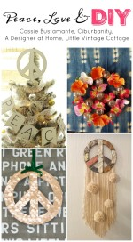 Floral Marquee Peace Sign – Peace, Love and DIY