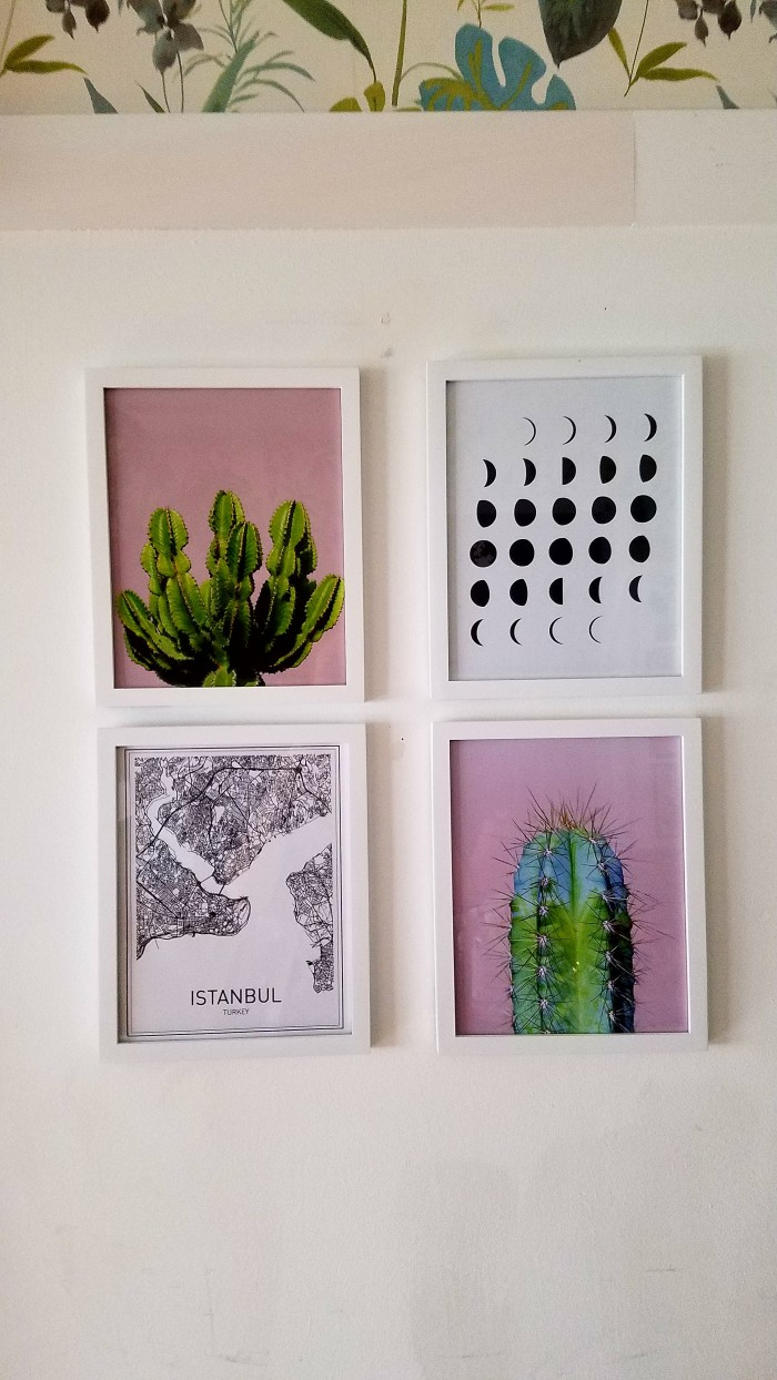 Modern Eclectic Framed Prints | Cactus, Moon Phases, Istanbul