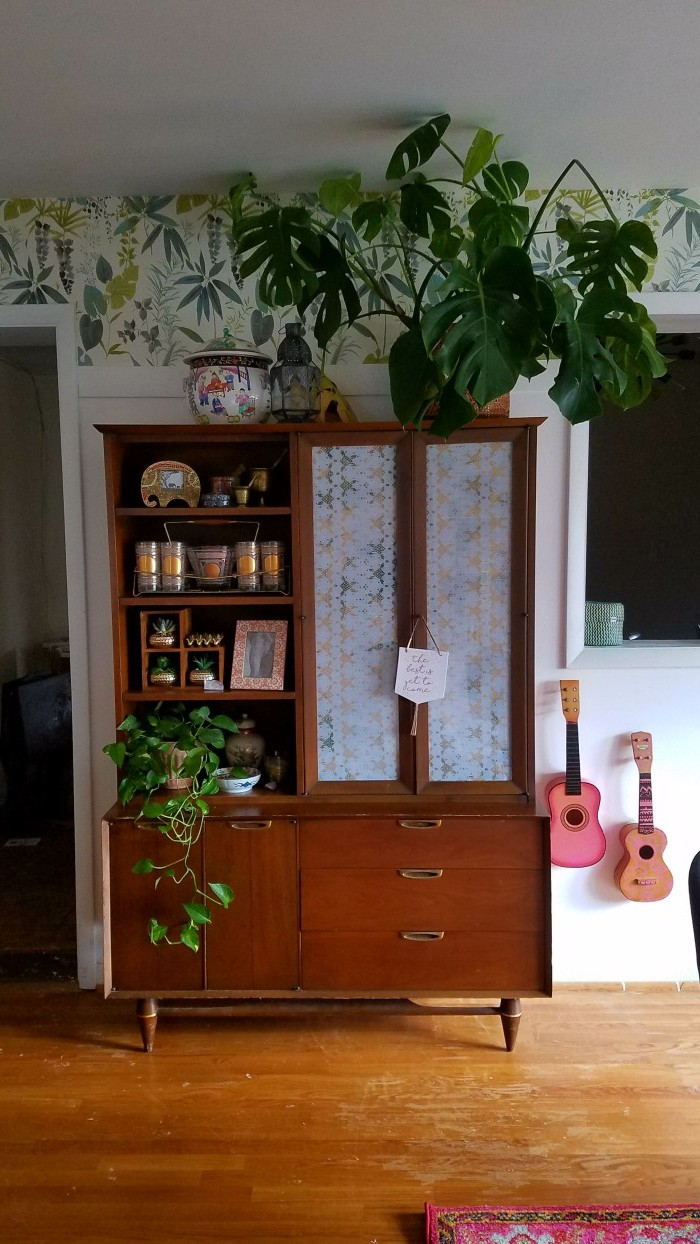 Mid Century Modern China Cabinet   Airy Bohemian Dining Room Decor   Cali Style