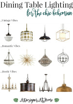 Bohemian Dining Room Lighting