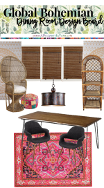 Eclectic Bohemian Dining Room Plans Going Forward