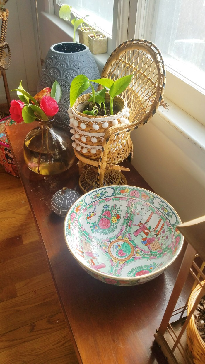 How to start a room design: pretty oriental bowl for a boho dining room