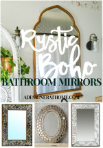 Rustic Boho Bathroom Mirror Sources
