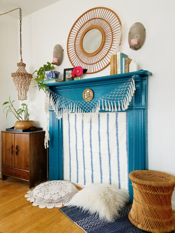 Spring Decorating: Bohemian Mantel