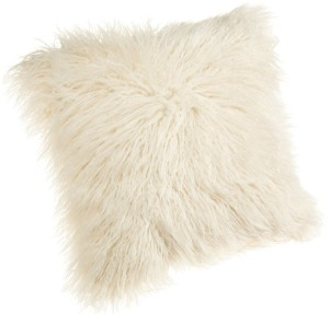 Faux Mongolian Fur Pillow