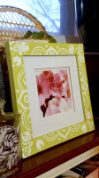 Using The Trend: Greenery. Globally inspired jungalicious home decor DIY- Faux Bone Inlay Picture Frame tutorial