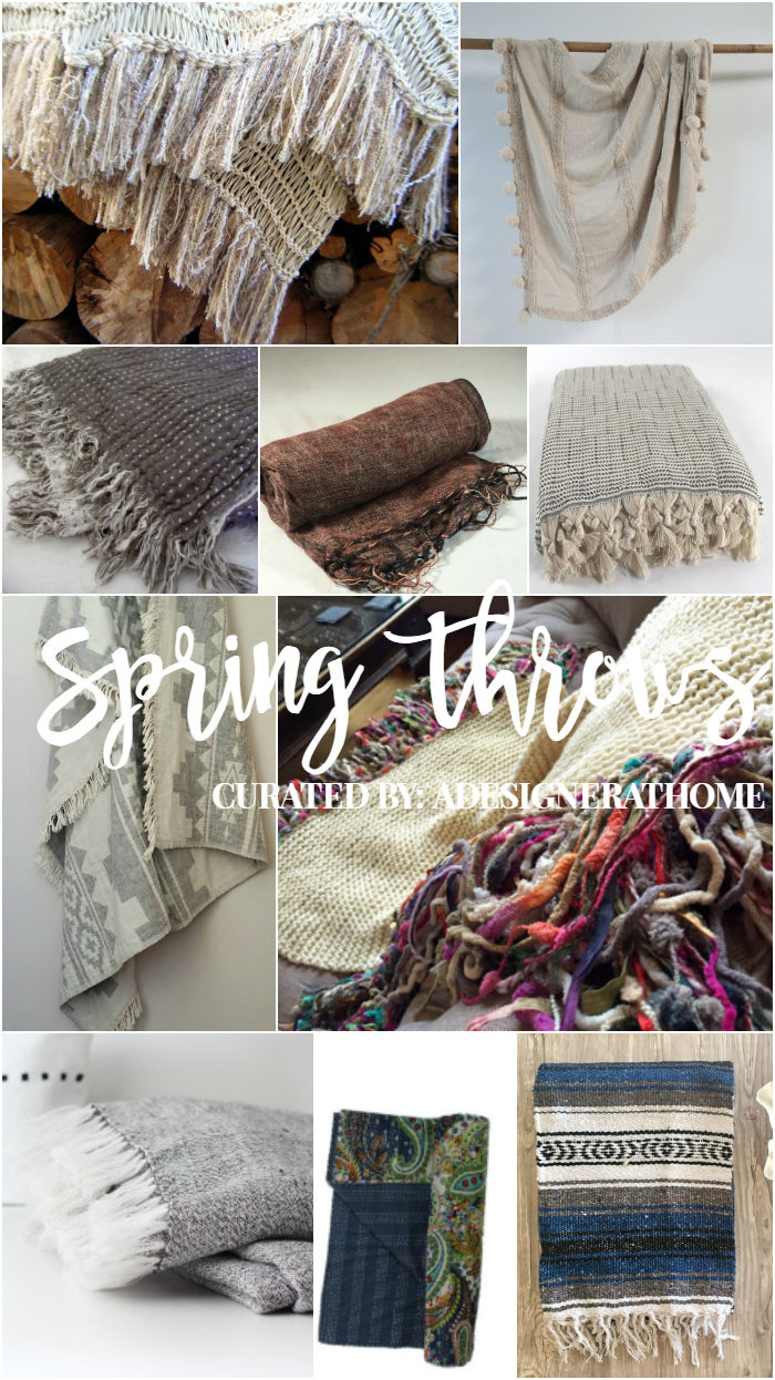 Boho Decorating- 2017 Spring Throw Blanket Trending Favorites