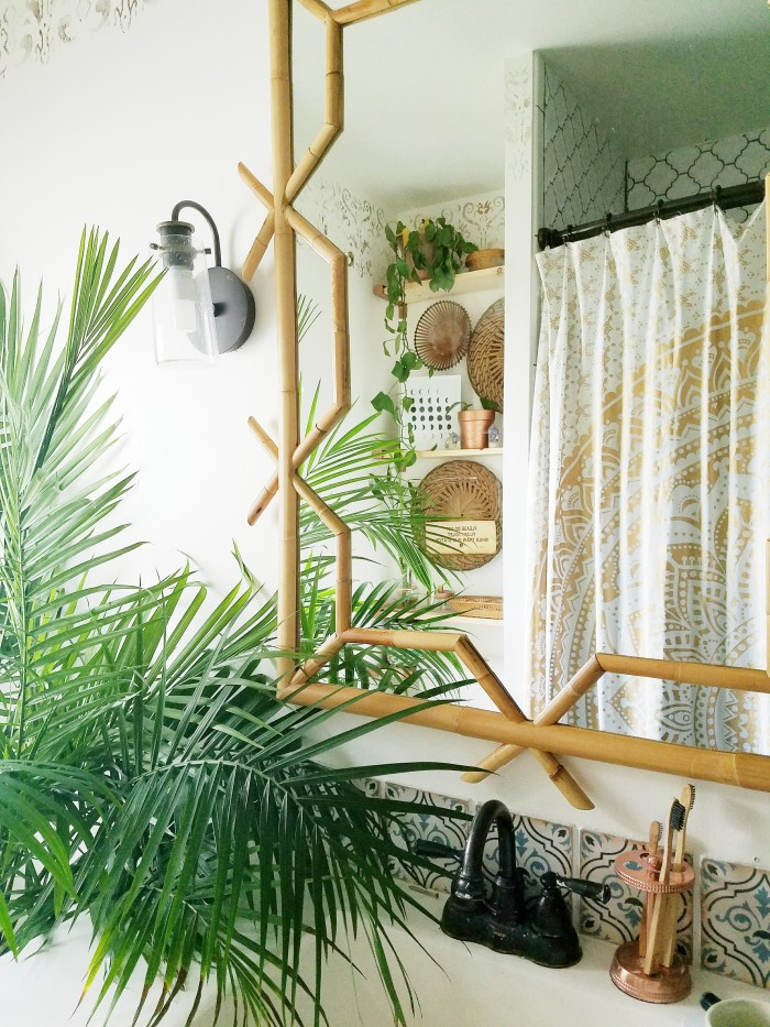 Rattan-Mirror-Hollywood-regency-meets-bohemian-style