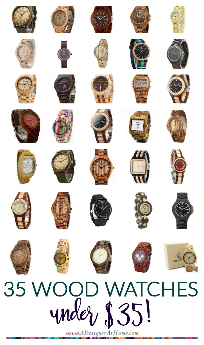 35 WOOD WATCHES - EVERY WOOD TONE, Men's and Women's Styles