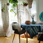 My Budget Boho Window Curtains- Bohemian window treatments @adesignerathome
