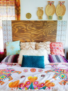 The Global Styler: Moroccan Tile inlaid headboard DIY created by @adesignerathome