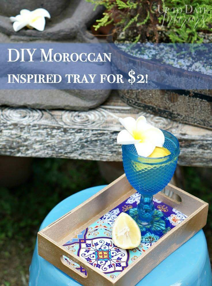 $2 Moroccan Inspired Tray