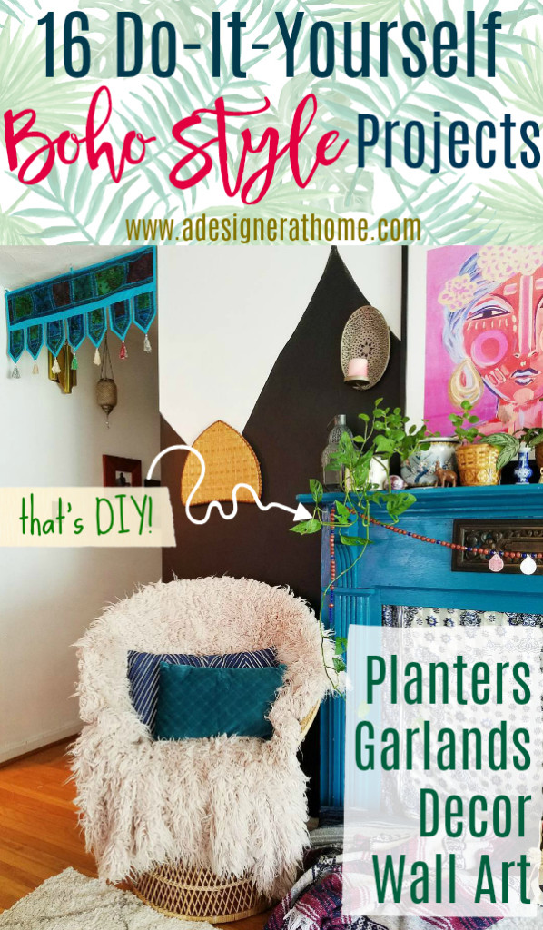 16 do it yourself boho style home projects