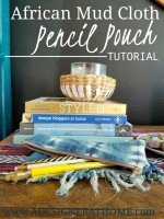 African Mudcloth Pencil Pouch Tutorial