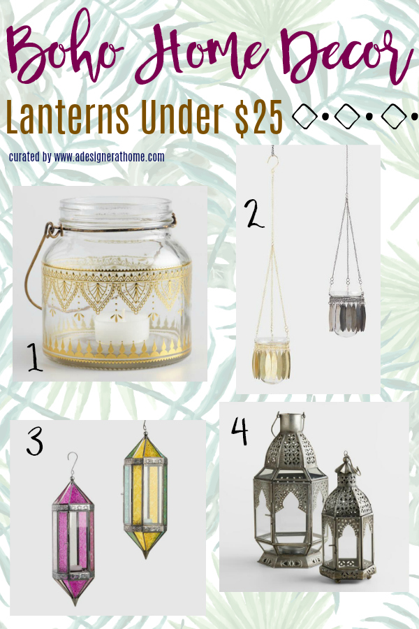 Budget Boho Home Decor Lanterns Under $25