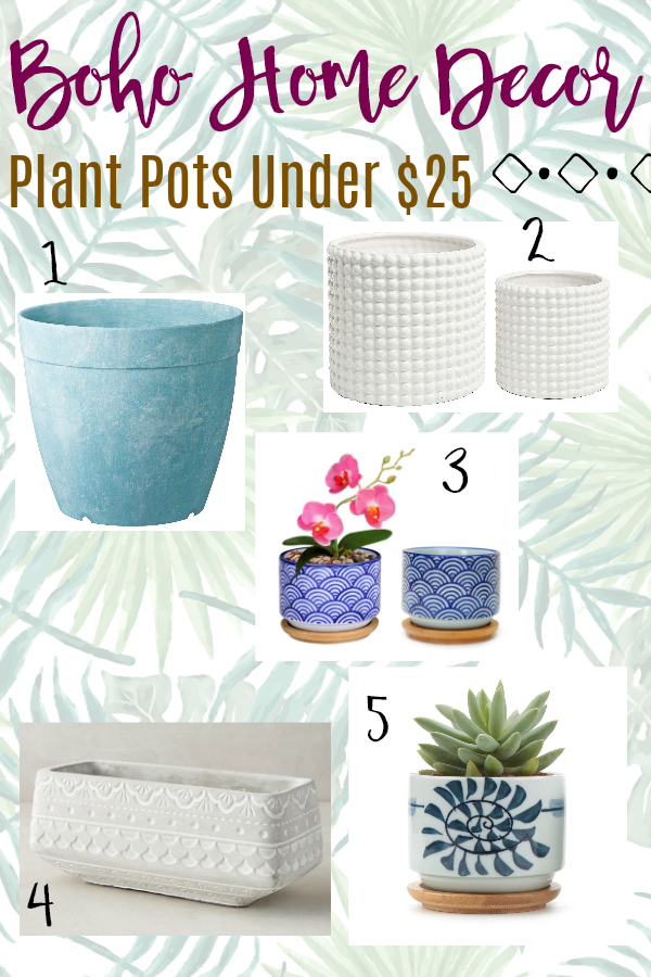Budget Boho Home Decor Plant Pots Under $25