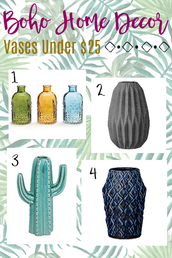 Budget Boho Home Decor Vases Under $25