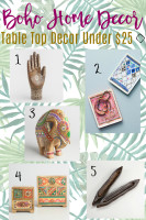 Budget Boho Table Top Decor Under $25