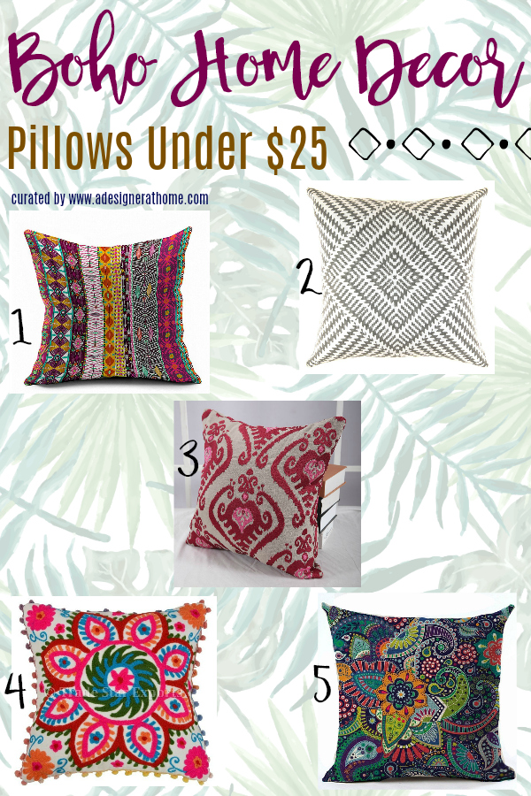 Budget Boho Throw Pillows Under $25