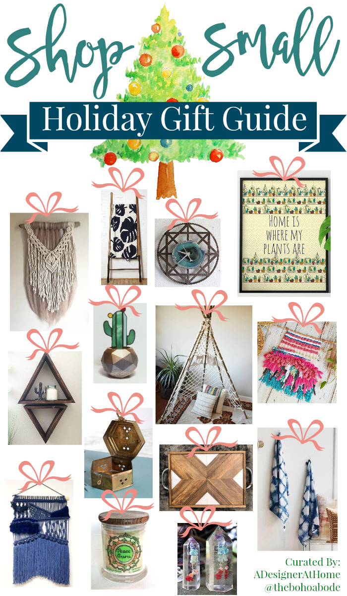 Shop Small Business Holiday Gift Buying Guide Whimsical gifts for the boho, eclectic, handmade home