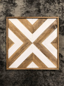Wood and White X Wall Art- Werrell Woodworks