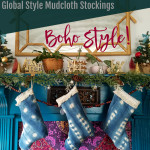 DIY Mudcloth Stocking- decorative stocking tutorial- boho style Christmas