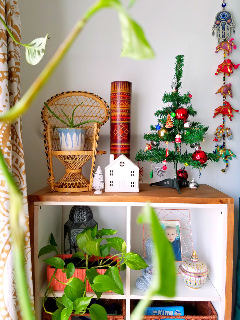 Bohemian Christmas decorated Home