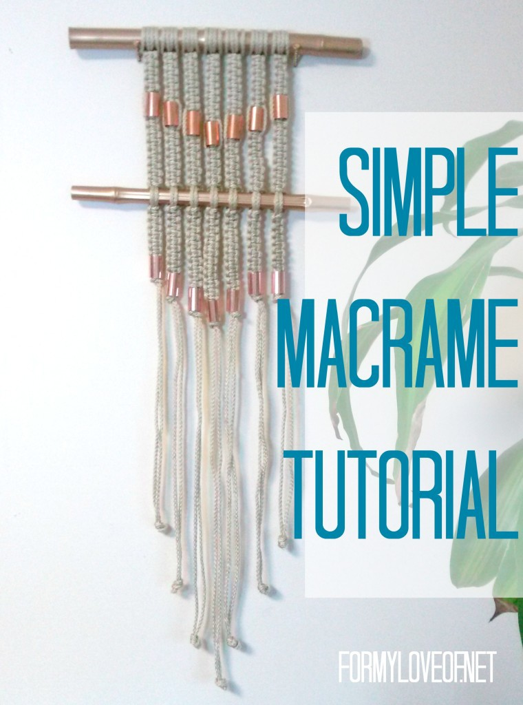 Simple Macrame Wall Hanging Tutorial