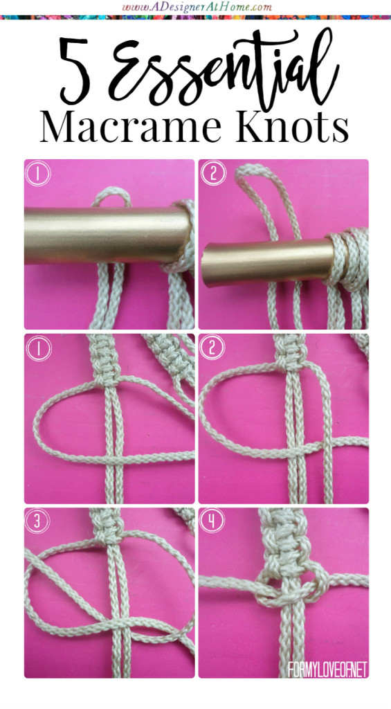 5 essential beginners macrame knots