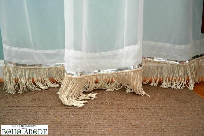 Sequin Amp Diy Fringe Embellished Curtains A Designer At Home