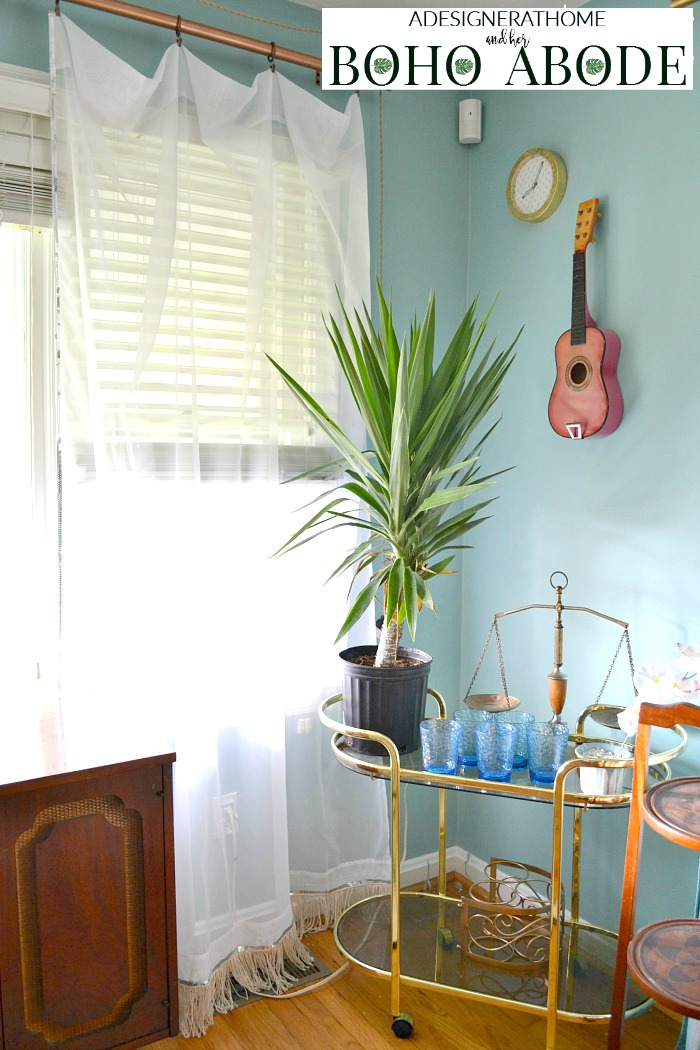 styled-bar-cart-sheer-accented-curtains