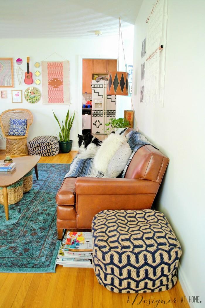 Tour: A Boho Vintage Collected Living Room - A Designer At ...