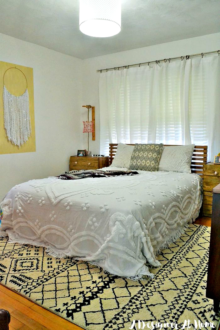 Tour: Boho Vintage Eclectic Bedroom - A Designer At Home on Bohemian Bedroom Ideas On A Budget  id=51997