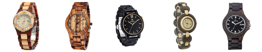 Wood Watches Under $35- men's and women's styles!