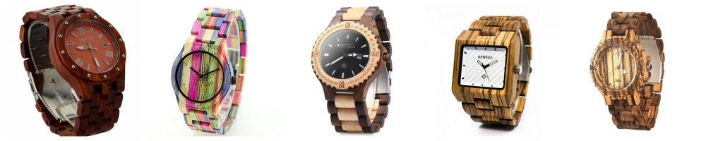Wood Watches Under $35- wood watch styles for everyone